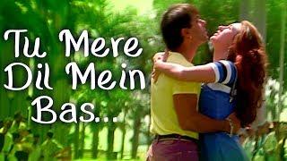 Tu Mere Dil Mein Bas Ja - Salman Khan - Karishma Kapoor - Judwaa Songs - Kumar Sanu - Poornima