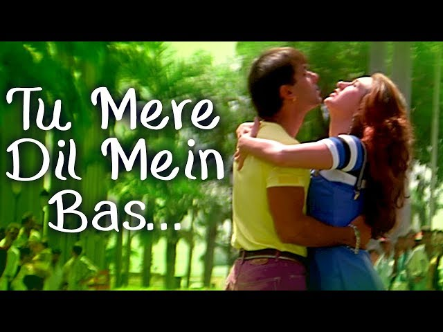 Tu Mere Dil Mein Bas Ja   Salman Khan   Karishma Kapoor   Judwaa Songs   Kumar Sanu   Poornima