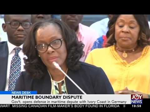 Maritime Boundary Dispute - News Desk on Joy News  (6-2-17)