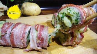 Маки-клет. Необычный ролл с картофелем, беконом и сыром.