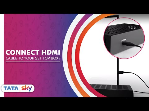 How to Connect HDMI Cable to Your Set Top Box Using Tata Sky Remote