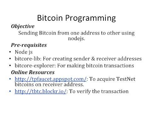 Sending & Receiving 'FAKE' Bitcoins using NodeJS