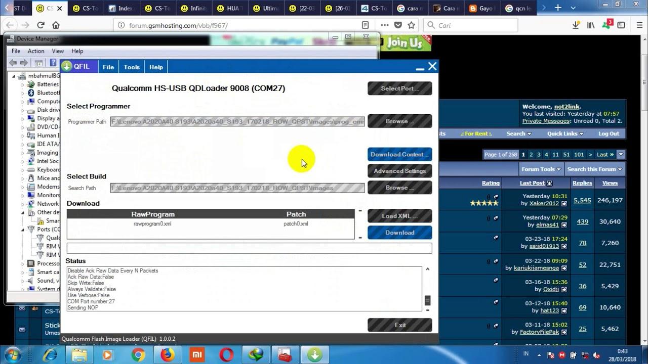 Cara Flash Lenovo a2020a40 dengan QFIL