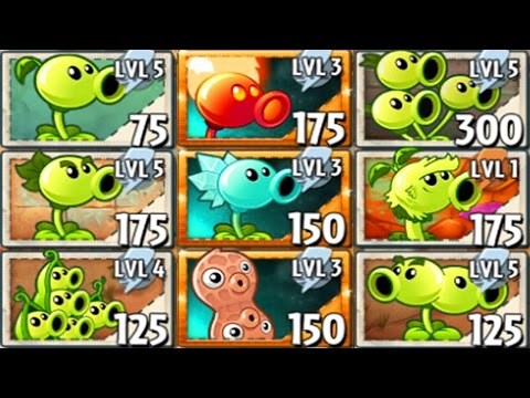 All Pea Plants Power-Up! in Plants vs Zombie 2