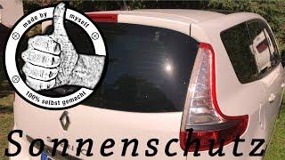 Scheiben: Autoscheiben selber tönen, verdunkeln, Sonnenschutz selber machen Car Shades