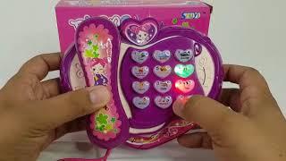 Teléfono de juguete para niños con luz y sonidos