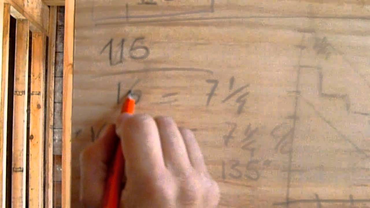 Como hacer escaleras de madera 1 calculo youtube for Como construir una escalera de hierro y madera