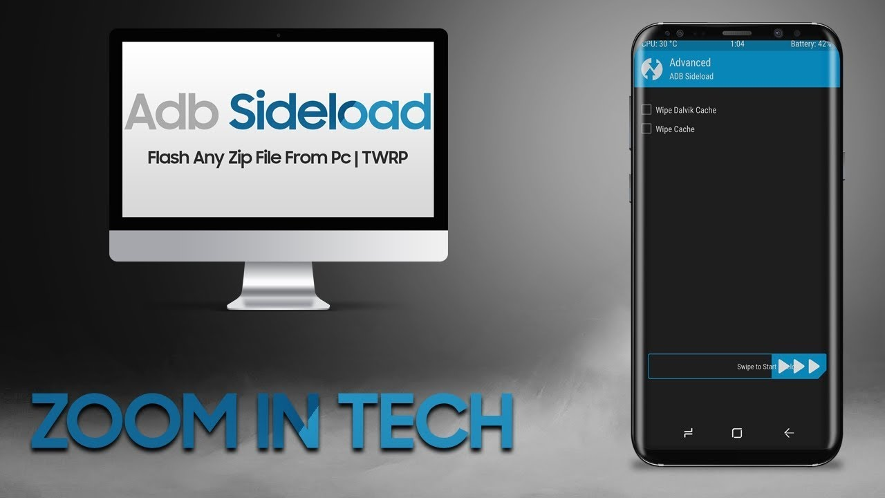 How To Flash a Zip File From Pc | Adb Sideload TWRP