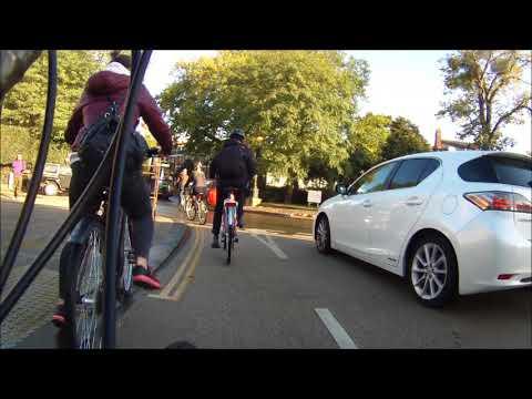 Suicidal Cyclist - plains roundabout, Oxford