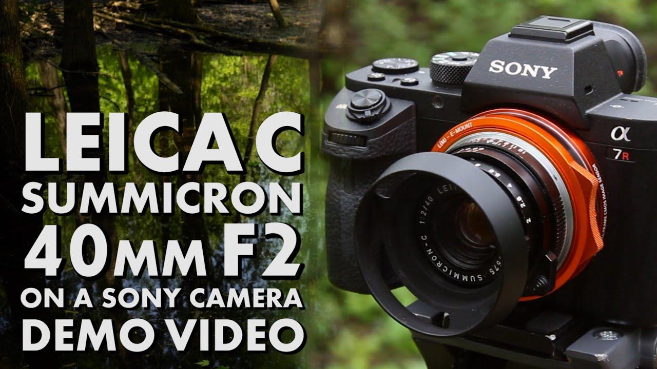 Leica C Summicron 40mm F2 on a Sony A7R II - DLX Stretch Adapter Demo Video
