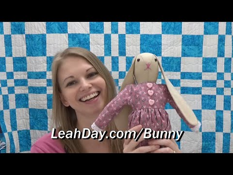 How to Make Ms. Bunny! How to Sew a Rabbit Doll - Beginner Tutorial