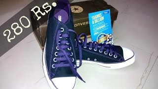 Converse All star canvas shoes Unboxing | Flipkart The big billion day | Indian consumer