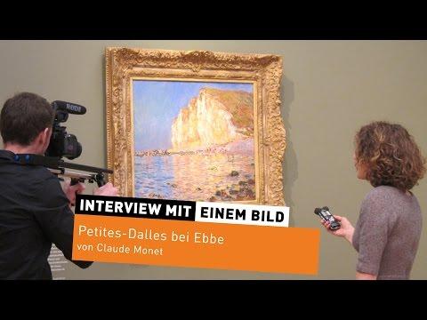 """Interview mit einem Bild #3: """"Petites-Dalles bei Ebbe"""" von Claude Monet"""