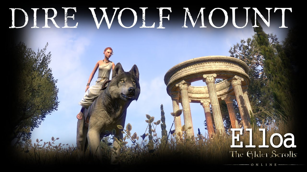eso dire wolf mount youtube