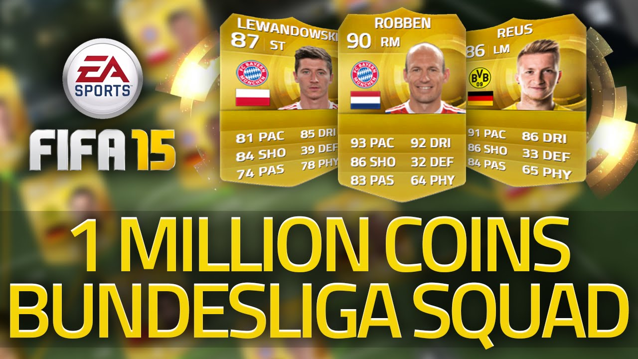 15 1 million coin bundesliga squad builder fifa 15 ultimate team
