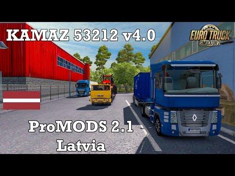 Euro Truck Simulator 2 - #275 - KAMAZ 53212 v4.0 [ProMODS 2.1 - Latvia]