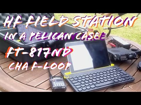 Man-Portable HF Field Station in a Pelican case