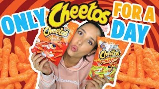 24 HOURS EATING HOT CHEETOS CHALLENGE 🔥I EAT ONLY HOT CHEETOS FOR A DAY | Mar