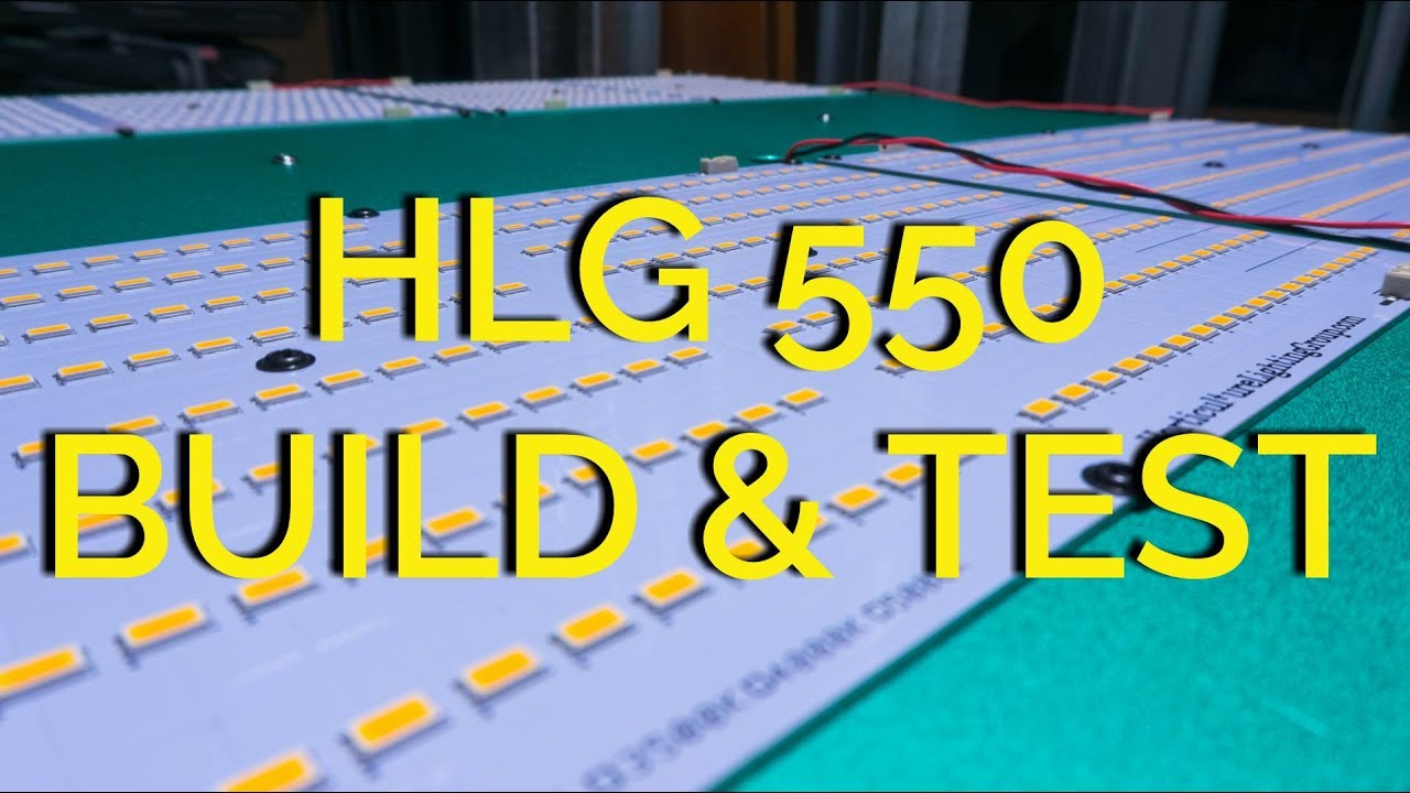 HLG 550 Assembly and Testing (4x Quantum Boards on 1x HLG-480H-C2100B)