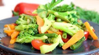 Брокколи с овощами на обед  Быстро и Вкусно