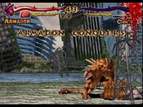 Primal Rage (Arcade) Armadon Gameplay