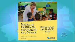 Segundo a 10ª CRED 10, a média de qualidade da educação do município de Alto Santo, lhes classifica