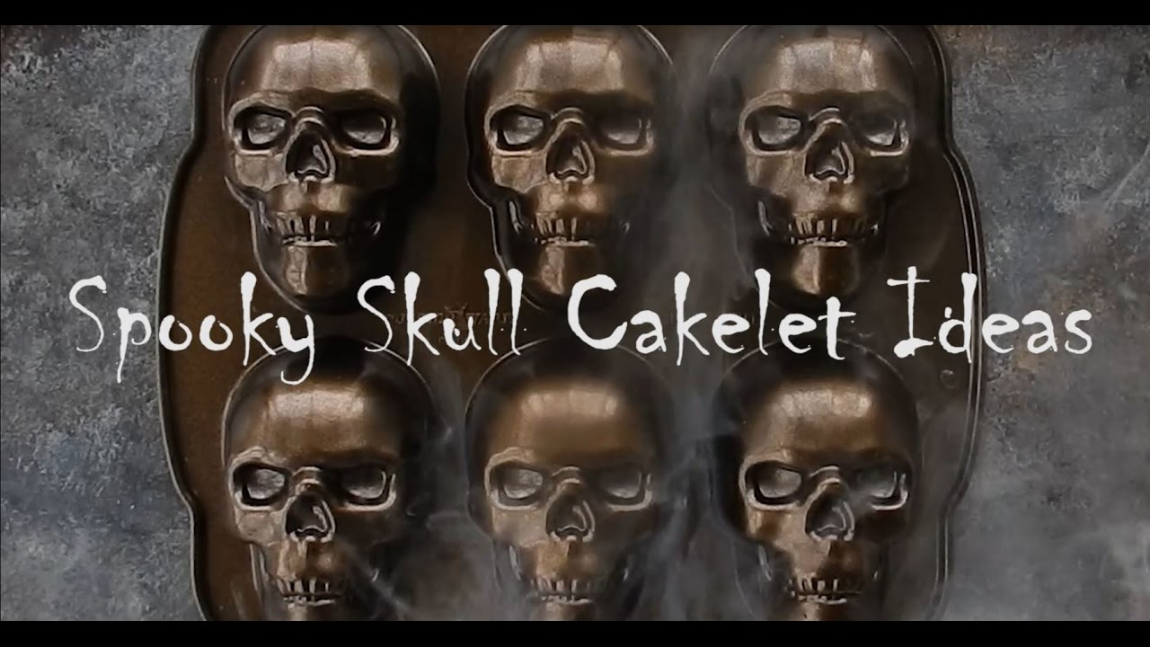 Nordic Ware Skull Cakelet Pan Youtube