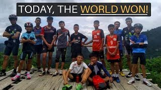 TODAY, THE WORLD WON! (13 Boys Saved in Thai Cave)