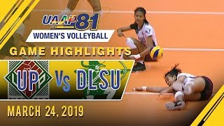 UAAP 81 WV: UP vs. DLSU | Game Highlights | March 24, 2019