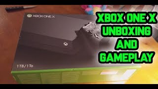 Xbox One X UNBOXING + GAMEPLAY! 🎮 (New BEST Console?)