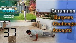 12 Reps || Rayeesfitness || Guru Mann Burpee Challenge 2020 || Challenge Accepted