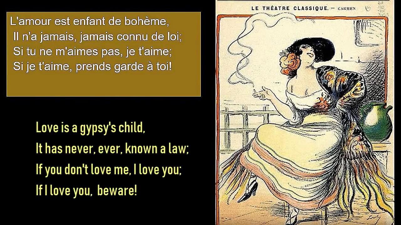 Carmen Habanera French Lyrics With English Translation Youtube