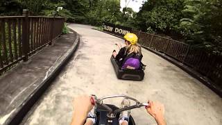 Sentosa Island Skyline Luge - Mario Kart Battle!
