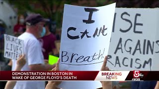 Boston protest held in South End demanding justice for George Floyd