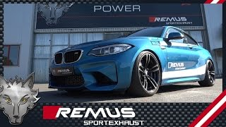 bmw m2 f87 with remus cat back system