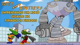 Desenho animado do dia de Finados: Super Sapo Brothers contra o robô gigante - Por que sempre chove?