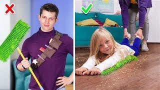 11 مقلب مضحك وابتكارات لجليس أطفال!