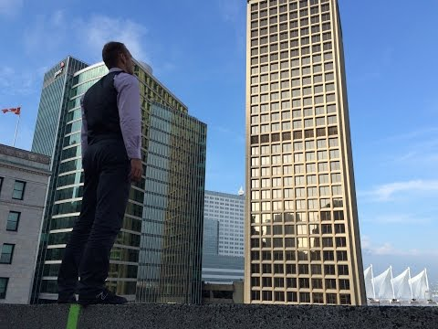 Business Man Meets Parkour - Quickest Way to Work in Vancouver BC