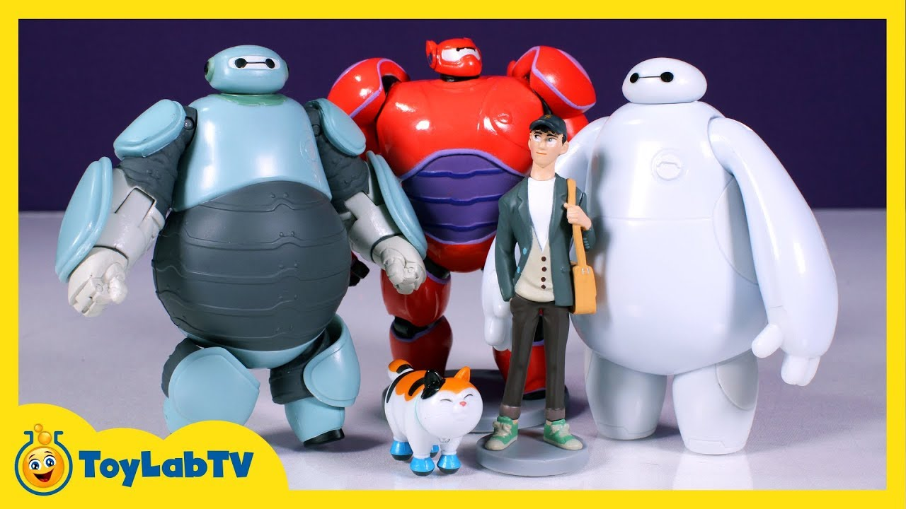 Big Hero 6 Toys With Armor Baymax Prototype Action Figure Playset Youtube