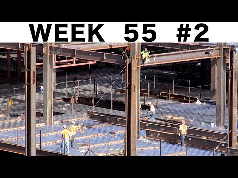 "Ironworkers getting a stubborn I-beam to fit:  ""raw"" construction footage #2 from Week 55"