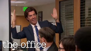 """The Office US - Andy Singing """"Who's That Girl"""" from 'New Girl'"""