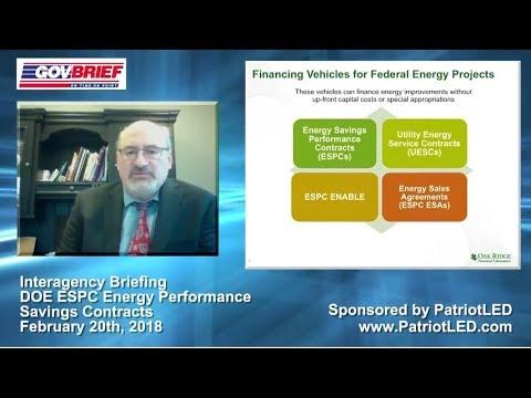 Interagency Briefing - DOE ESPC Energy Performance Savings Contracts