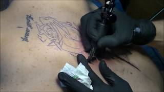 Abstract rose - Tattoo time lapse thumbnail
