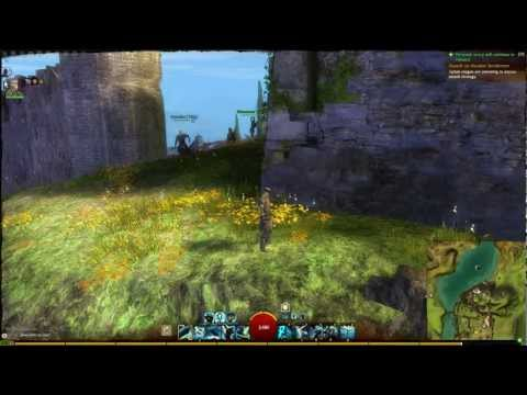 Jumping from a cliff in Guild Wars 2 BWE2