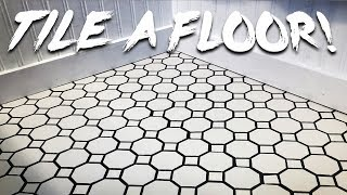 Tiling a Bathroom Floor!