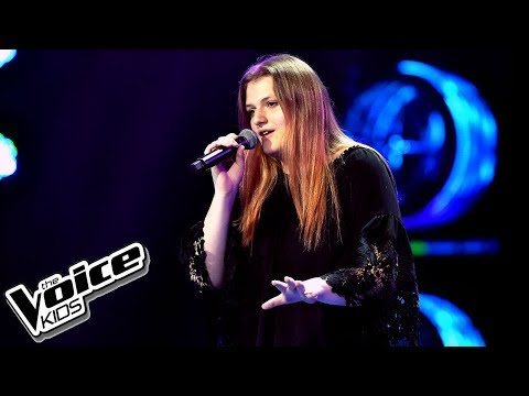 "Wiktoria Granas – ""Set Fire To The Rain"" – Przesłuchania w ciemno – The Voice Kids Poland"
