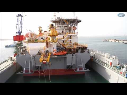 "Pipe - lay vessel  ""Israfil Guseynov"" Docking"