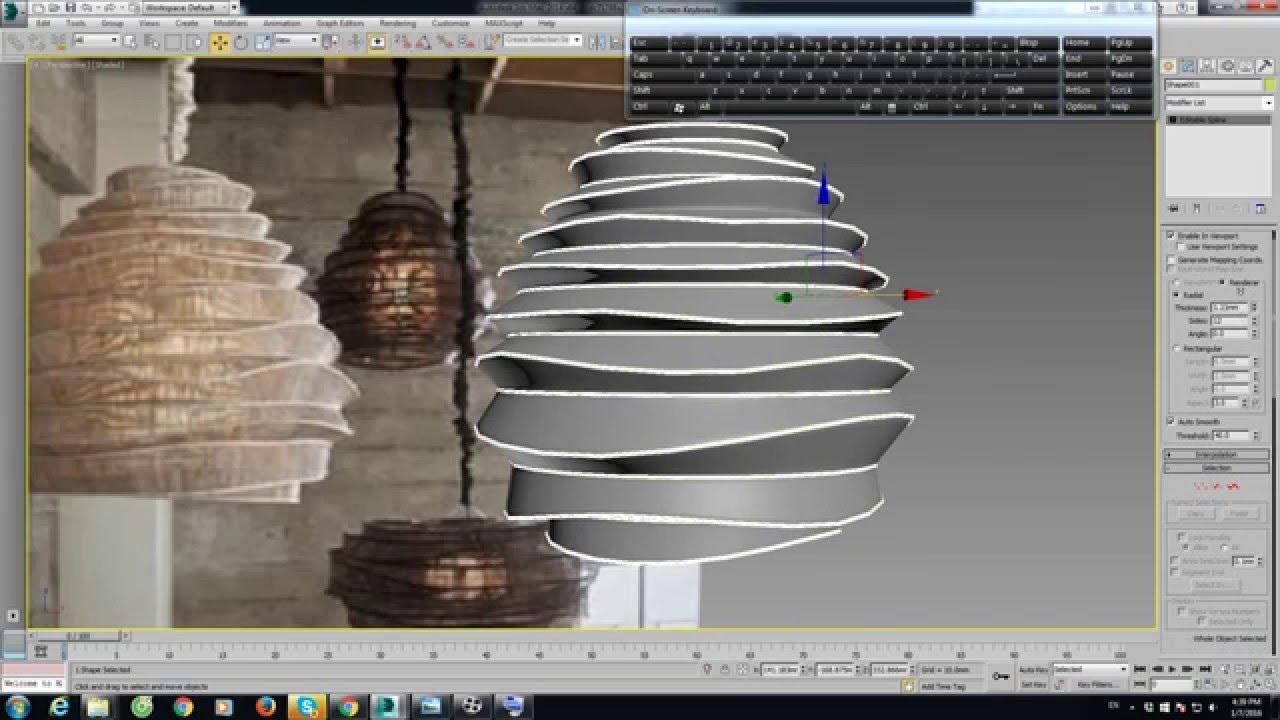 3D MAX MODELING LIGHTING YouTube