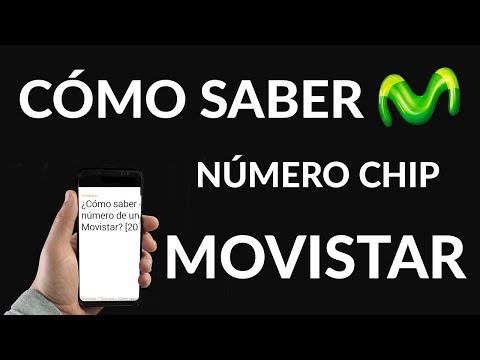 Cómo Saber el Número de un chip de Movistar