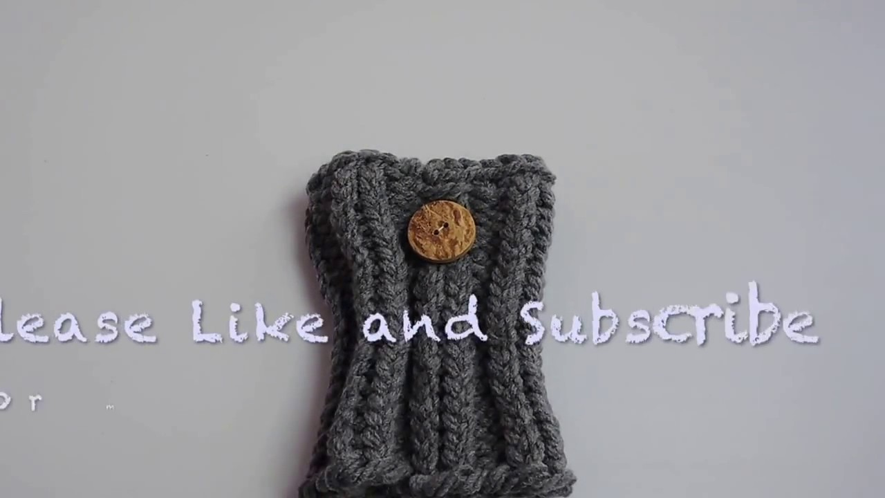 Loom Knit Boot Cuffs Child Size Youtube